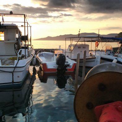 Stoupa Harbor Sunset